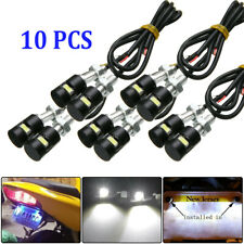 10x White SMD LED License Number Plate Light Screw Bolt Bulbs For Car Motorcycle