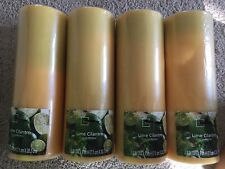 Citrus Cilantro Scented Candle 8 X 3 Inches New Sealed-case Of 4 Candles