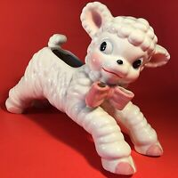 ART POTTERY LAMB PLANTER 1950'S VINTAGE NATIONAL POTTERY MID CENTURY MODERN 9.5""
