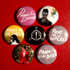 "7 Panic At The Disco 1"" Buttons Paramore My Chemical Romance PATD FREE SHIPPING"