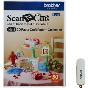 NEW Brother Scan-n-cut 3D Paper Craft Pattern Collection on USB (CAUSB4) SEALED