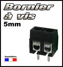 965N/10# Bornier à vis noir 2 plots 10 pcs borniers CI -- pas 5mm