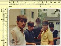 #055 1980's Guys Boys Men Smoking Males Smoke Cigarettes vintage photo original