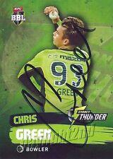 ✺Signed✺ 2015 2016 SYDNEY THUNDER Cricket Card CHRIS GREEN Big Bash League