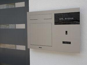 Unterputz Briefkasten  Edelstahl mit Video Türsprechanlage Kamera Fingerprint