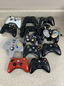 Controller Lot - PS2 Xbox One, Xbox 360 Gamecube PARTS / REPAIR AS IS