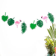 Birthday Party Wedding Supplies 1Set Palm Leaves Garland Flamingo Banner Decor