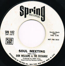 DON WILLIAMS & THE EXCHANGE soul meeting U.S. SPRING 45rpm_1970 SOUL rare
