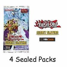 YuGiOh Secret Slayers: 4 Sealed Booster Packs | 1st Edition | TCG Cards