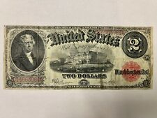 1917 Large Size Two Dollar $2 Red Seal United States Legal Tender Bank Note