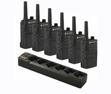 6 Motorola RMU2040 Two Way Radios + 6-Bank Charging Station - UHF Radios