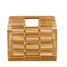 Rouven/THOR 30 Architecture BAMBOO Box Bag/Nature Wood/bambù Borsa Cesto