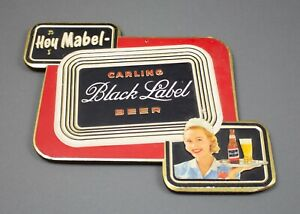 "Carling ""Hey Mabel"" Black Label Beer Embossed Advertising Composite Sign"