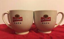 Grand Kafa Coffee Tea Demitasse Mugs Vintage 8 oz ceramic cups Lot Of 4