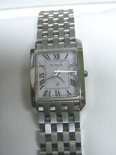 STAINLEES STEEL LADIES ACCUTRON  MODEL 26L00 SAPPHIRE CRYSTAL