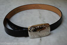 Black Top Grain Steerhide / Leather Belt. 36 Inch. Strap / Snap On Buckle. NEW.
