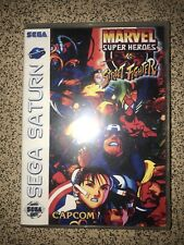 Marvel superheroes vs street fighter Sega Saturn empty case no game brand-new