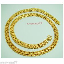 "Men's Deluxe 22K 23K 24K THAI BAHT YELLOW GOLD GP NECKLACE 28"" Jewelry N 170"