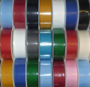 TOP QUALITY GROSGRAIN RIBBON 38MM, 5 METRES, ASSORTED COLS GIFT WRAP, CRAFTS