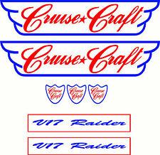 Cruise Craft V17 Raider Fishing Boat Sticker Decal Cruisecraft Marine Set of 7
