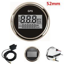 52mm Car SUV Truck Waterproof GPS Digital 0-999 Knots Speedometer Gauge Odometer