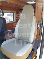 TO FIT A PEUGEOT BOXER MOTORHOME, 2005, SEAT COVERS, TAFFINO BEIGE, 2 FRONTS