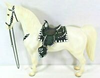 """BREYER Collectible White Horse 12"""" Long 10"""" Tall Has A USA Stamp"""