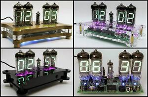 Steampunk Desk Clock IV-11 or IV-12 VFD Tubes + Case + Remote + RGB Nixie Era!