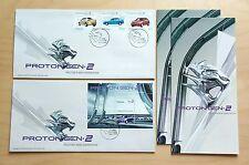 2005 Malaysia Proton GEN.2 New Generation 3v Stamps & MS on 2 fdc (Kuala Lumpur)