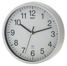 Unity Radcliffe Radio Controlled Wall Clock Silver UNRC106