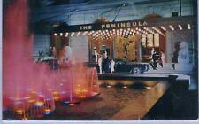 China Hong Kong Hongkong Hotel Peninsula Entry continental size chrome postcard