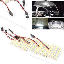 5x White LED 5050 15SMD Panel+Festoon T10 BA9S Adapter Interior Dome Lights Car