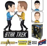Star Trek Kirk vs. Spock Amok Time 2016 Comic Con Exclusive Bobble Heads w Sound