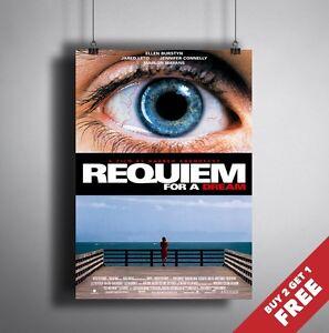 REQUIEM FOR A DREAM 2000 MOVIE POSTER A3 A4 * Classic Drama Film Art Print