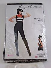 Plus Size XL Women's Mime Cosplay Halloween Sexy Costume Party Leg Avenue