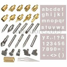 28pc Wood Burning Pen Tips & Stencil Set Soldering Iron Working Carving Tool
