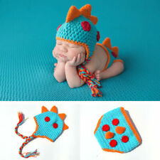 Dinosaur Baby Newborn Knit Crochet Clothes Photo Photography Prop Outfits Lovely