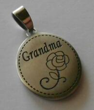 Grandma Oval Pendant JCM Stainless Steel Granddaughter God's Gift to each other