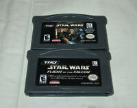 Gameboy Advance Star Wars Episode II & Flight of the Falcon Game Lot of 2 NES