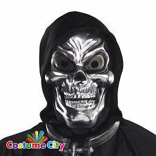 Adultos Plata 3d Esqueleto Calavera Máscara Halloween Fancy Dress Costume Accesorio