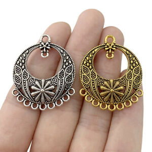 10 x Silver/Gold Chandelier Multi Connector Charms Pendants for Earring Making
