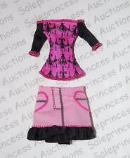 NEW Monster High Scaris Draculaura Shirt Skirt Outfit Replacement Loose