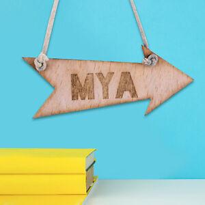 Personalised Wooden Door Garden Signs Kids Room Hanging Plaques Any Name