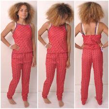 V Neck Geometric Plus Size Jumpsuits & Playsuits for Women