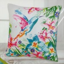 """Pillow Cover Decorative Throw 18"""" x 18"""" Hummingbird Flowers Tropical Couch Bed"""