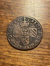 Belgique Liard 1691 , Pays Bas Espagnols , Charles II