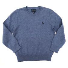 Genuine Ralph Lauren Blue Heather Cotton Crew Jumper Sweater Boys 6 Years