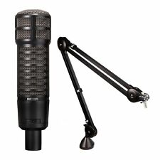 Electro-Voice EV RE320 Microphone and Rode PSA1 Studio Boom Arm for Broadcasting