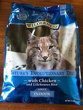 BLUE Wilderness Adult Indoor Grain Free Chicken Dry Cat Food 11-lb