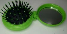 """HELLO KITTY Compact Brush with Mirror Portable Folding Set round 2"""" x 2"""" Green"""